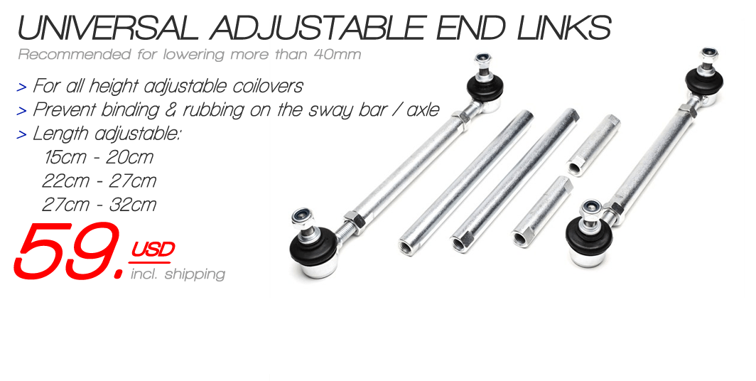 Universal adjustable end links